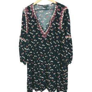 Forever 21 Long Sleeve Boho Swing Dress 3X